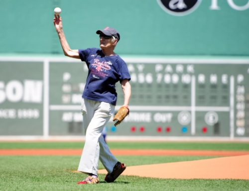 Sister Pat McCarthy Throws Opening Pitch at Fenway Park